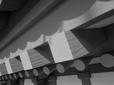 垂木の仕上げは手加工(2017年12月撮影)