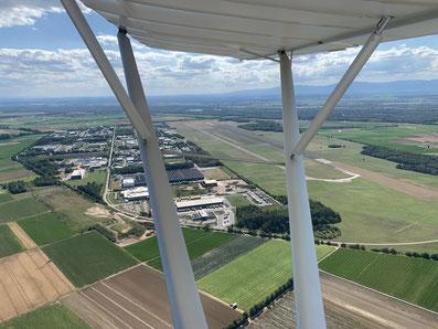 Flugplatz Bremgarten EDTG mit Zwischenladung auf dem 200km Flug