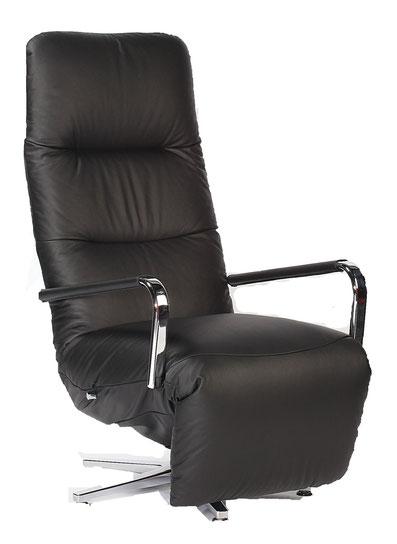 Relaxsessel Strässle Dogo Relaxer Recliner Leder schwarz