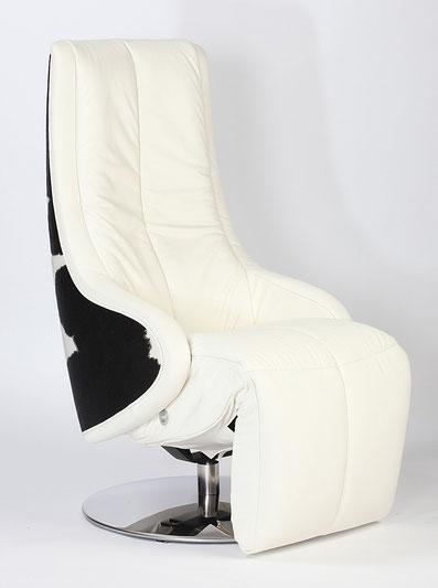 Relaxsessel Strässle Manteau Relaxer Recliner Leder schwarz