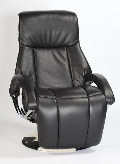 Relaxsessel Strässle Arthur Relaxer Recliner Leder schwarz