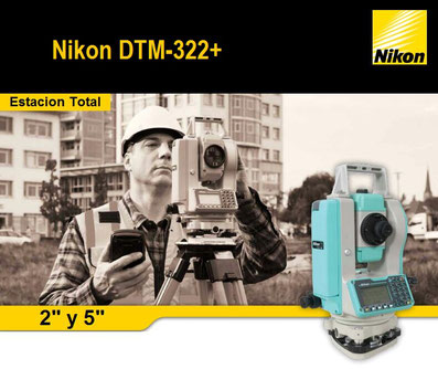estacion total nikon dtm322+
