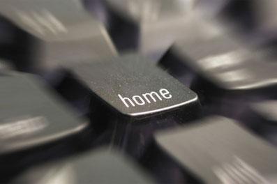 """Touche d'ordinateur """"home"""" pour la gestion domotique dans la maison"""