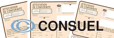 Logo CONSUEL et formulaires de conformité des installations électriques