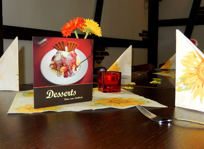 Neue Dessertkarte
