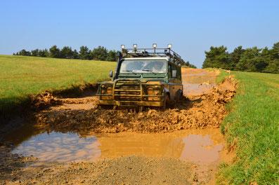 Freizeitpark Mammut Erlebnisbericht mit dem Land Rover Defender