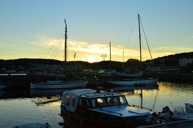 Sonnenuntergang Larvik in Norwegen