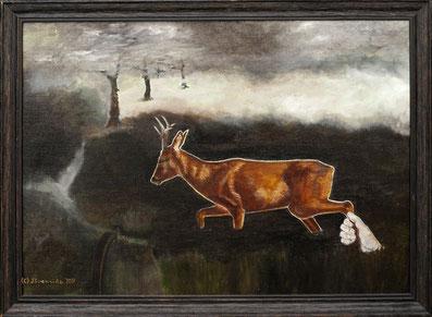 Brennike Malerei, Ölgemälde, Die Liebe zur Natur, Kunst, Symbolismus, figurativ