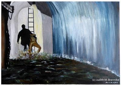 Brennike, Kanalisation, Ölgemälde, Kunst, Symbolismus,  Malerei, figurativ, Judith Maria Brennike