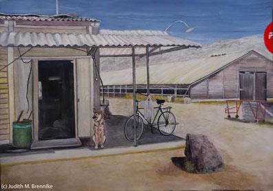 Brennike, Herzstück mit Chickenhouse, Kunst, Malerei