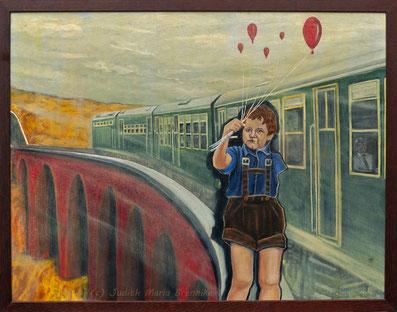 Brennike Malerei, Ölgemälde, Unter Zug, Kunst, Symbolismus