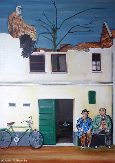 Brennike, Weinabend, Ölgemälde, Kunst, Symbolismus, Malerei, figurativ, Judith Maria Brennike