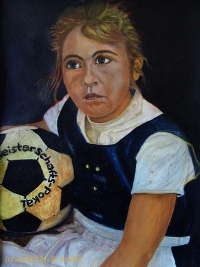 Brennike, Mädchen mit Ball, Kunst, Malerei, Portrait