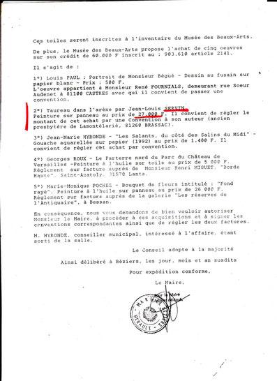 Délibération du Conseil unicipal page 2