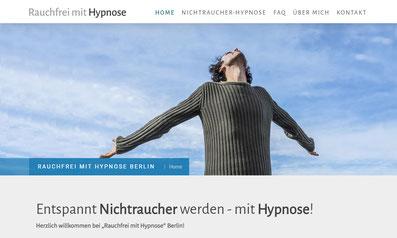 Website Rauchfrei mit Hypnose von Bernd Veltmann, Hypnosetherapeut in Berlin-Pankow