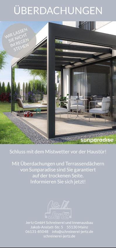 Sunparadise Terrassendächer Überdachung Glasdach Terrassendach Outdoor Living Garten Terrasse
