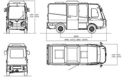 Elektrofahrzeug shuttle Bus  esagono Transportfahrzeug Griffo Geco