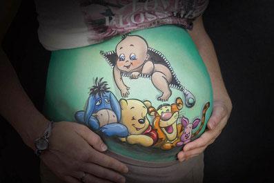 Bellypaints met baby's