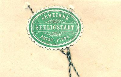 Bild: Seeligstadt Briefklebesiegel 1912
