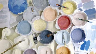 Wir nutzen ausschließlich hochdeckende Qualitätsfarben.