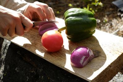 1. Alles Gemüse kleinschneiden