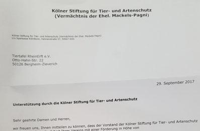 Kölner Stiftung für Tier- und Artenschutz, Foto: Oetken