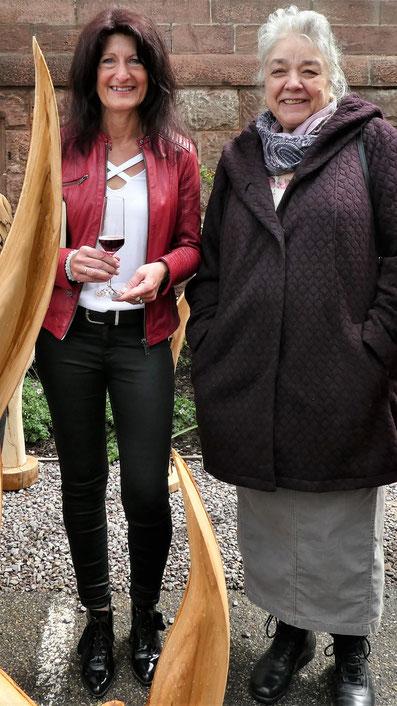 Bürgermeisterin Sonja Schuchter von Sasbachwalden mit Karin Jäckel