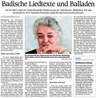 Mittelbadische Presse ARZ Oberkirch 7.3.2020