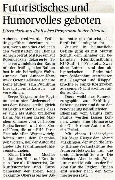 Mittelbadische Presse, Aus Stadt und Land  12.3.2020
