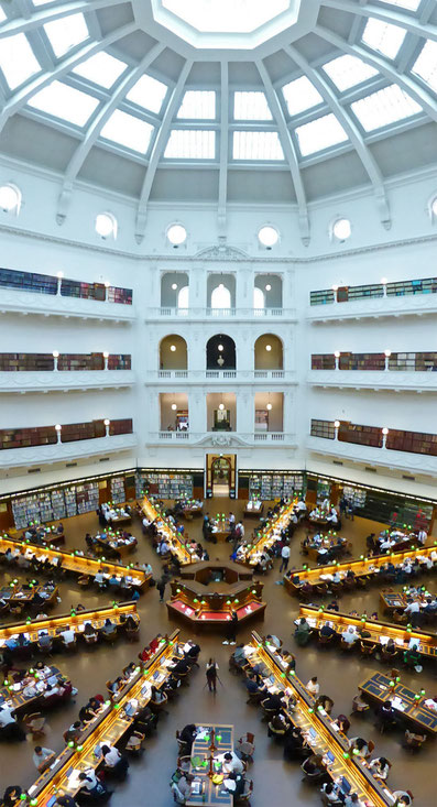 The State Library of Victoria reading room