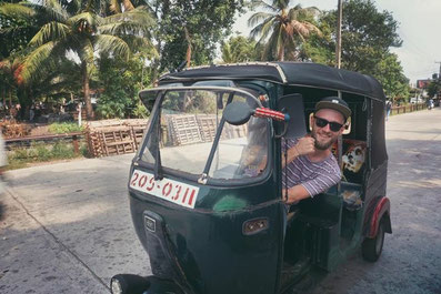 Tuk tuk in Sri Lanka