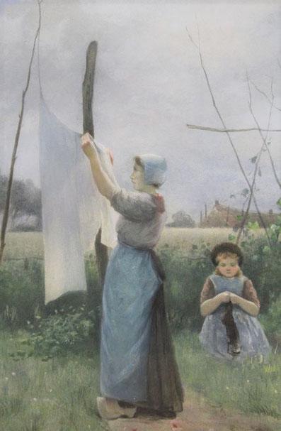 te_koop_aangeboden_een_kunstwerk_van_de_nederlandse_kunstschilder_david_de_la_mar_1832-1898_haagse_school