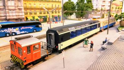 Panoramawagen Aussichtswagen Panoramic Express Bemo H0m modellbahn