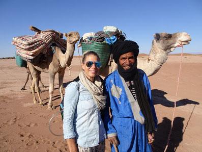 Voyage entre femme Désert Maroc