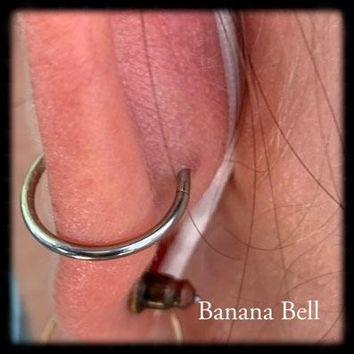 Anneau piercing conque