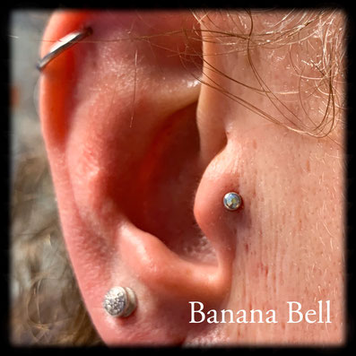 Labret titane strass extra plat Pierciing tragus