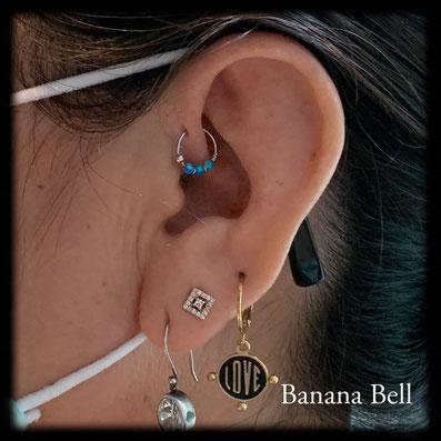 Anneaux opales piercing head hélix