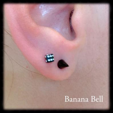 Boucles d'oreille Double piercing lobe