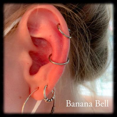 Anneaux piercing conque et cartilage