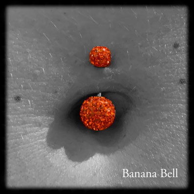 Bijou nombril strass orange