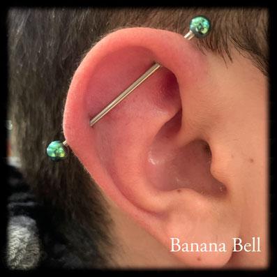 Barbell piercing industriel