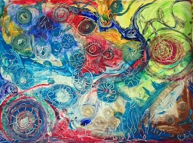 Ausdrucksmalen mit kräftigen Farben