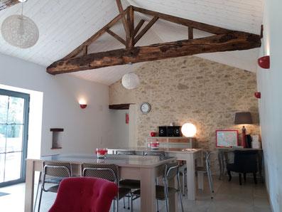 Salle à manger du Gîte SO'délices Vendée