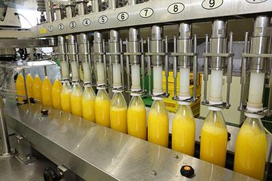 柑橘果汁商品生産ライン・果汁ジュース瓶入れ