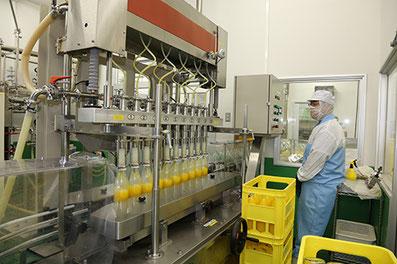 柑橘果汁商品生産ライン・果汁ジュース瓶入れ検査