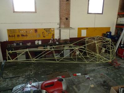 Fuselage de l'Auster J1 après restauration et peinture