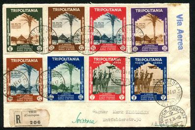25.10.1934 Tripoli, R-Brief über Tripol