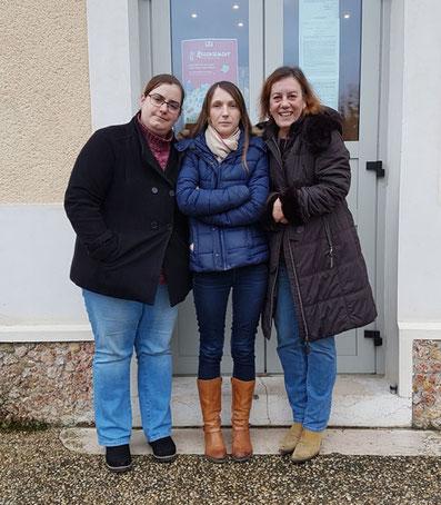 de gauche à droite : Véronique Barbeau, Jessica Berger Vallée et Corinne Samy