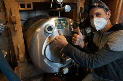 Nachgärung und Reifeprozess im Lagertank