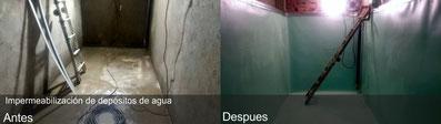 impermeabilización deposito de agua